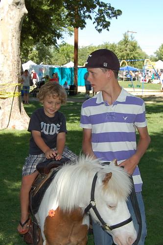 Clark Riding His 1st Pony