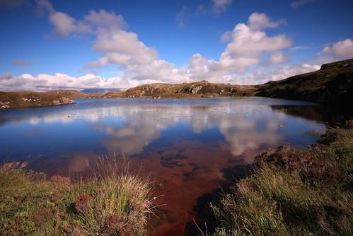 a hill loch near scourie.