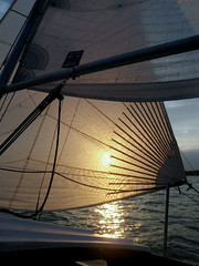 Head Sail Sun (russteaches) Tags: sailboat sailing cal25