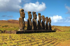 Ahu at Easter Island (msdstefan) Tags: pictures ocean chile trip travel vacation sky sculpture holiday sol rock stone landscape island coast soleil pacific pics urlaub himmel skulptur nikond50 best insel landschaft sonne stein moai easterisland rtw isla spiaggia hdr nicest kste rapanui ahu pazifik ozean osterinsel landschaftsbild platinumheartaward flickrestrellas mygearandmepremium mygearandmebronze mygearandmesilver mygearandmegold mygearandmeplatinum mygearandmediamond