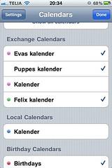 Valda kalendrar