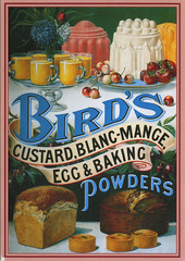 Bird's Custard, Blanc-Mange, Egg & Baking Powders (reprint) (katya.) Tags: food vintage baking spain postcard reprint