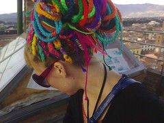 Rainbow Crochet Dread Extensions (babukatorium) Tags: pink blue red orange color green art lana wool fashion yellow dreadlocks rainbow funny colorful purple heart handmade turquoise burgundy oneofakind crochet moda violet style lucca blonde hippie dread psychedelic dreads arcobaleno rasta multicolor whimsical extensions darkblue fakehair haken fakedreads emeraldgreen croch fuxia uncinetto biondi fattoamano woolhair capellifinti  dreadextension tii horgolt uvgreen wooldread woolrovingdreads fakedread babukatorium