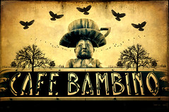 cafe bambino (Mary Hockenbery (reddirtrose)) Tags: seattle washington cool ballard coffeehouse cupa cafebambino ghostworks skeletalmess