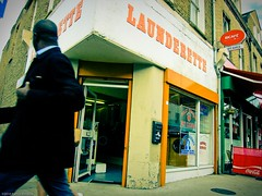 At least I know there's one on this corner.. (Tobymutz) Tags: london shop hammersmith laundromat launderette laundrette washeteria w6 fulhampalaceroad