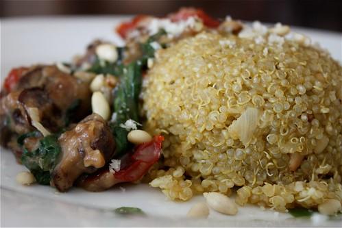 Mushroom Marsala with Garlic Herb Quinoa Pilaf