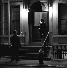 Coming for you (Rafakoy) Tags: pictures street door city newyorkcity light people blackandwhite bw white ny newyork man black love film girl night stairs 35mm 50mm blackwhite stair chelsea with kodak tmax manhattan picture taken negative 400 late epson nite kodaktmax400 tmy 400iso kodaktmax400tmy vivitarv3800n aldorafaelaltamirano vivitarmc50mmf18 rafaelaltamirano aldoraltamirano picturestakenwithvivitarv3800n picturetakenwithvivitarv3800n