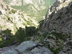 Bocca di Lariciu : ravin de Frassicia et le ruisseau de descente depuis le col