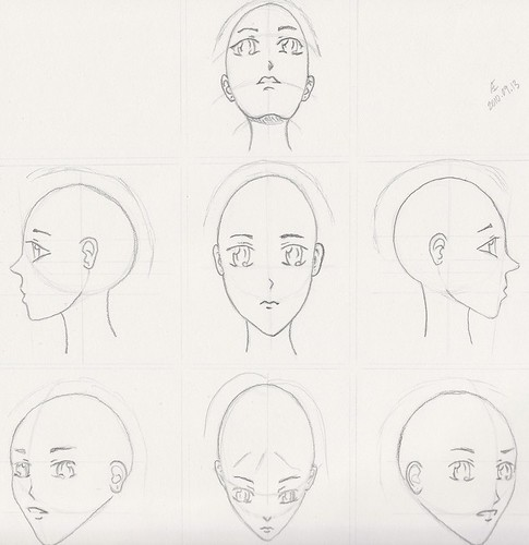 Manga Face Angles Sheet