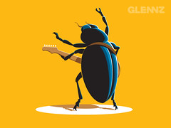 Rock Beetle (Glennz Tees) Tags: art nerd fashion illustration design funny geek drawing humor cartoon tshirt illustrator draw popculture tee vector ai apparel adobeillustrator glenz glennjones glenjones glennz gleenz glennnz