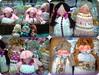 Sachês Bonecas (Fuxico de Chita) Tags: de flor artesanal fuxico feltro boneca tecido aplicação sacola ecológica