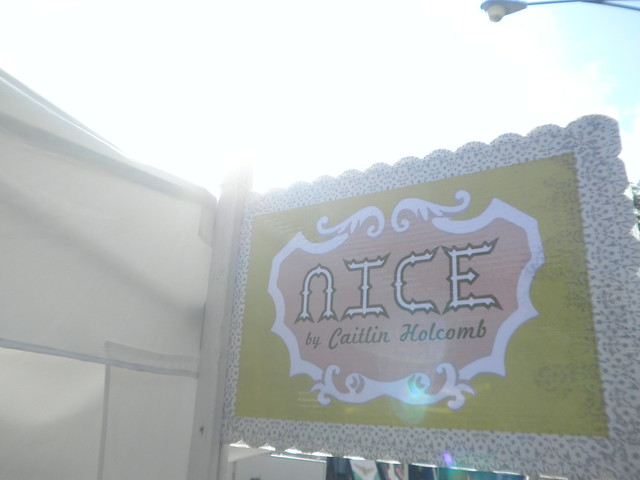 sign outside the tent