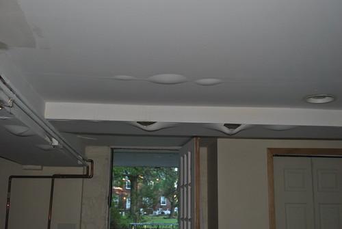 buckling ceiling