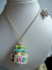 HAPPY BIRTHDAY Necklace - Cake and Slice of Cake