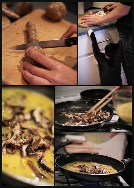 Mushroom cooking...