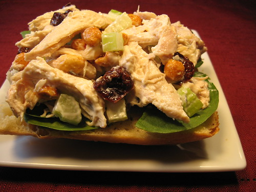Chicken Salad with Dried Cherries and Peanuts 003