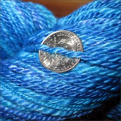 Ocean Merino-Silk yarn, close up