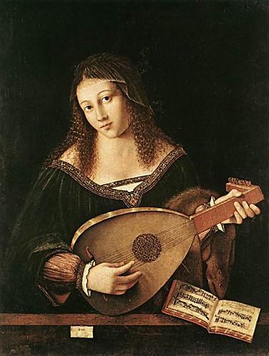 「リュートを弾く女」1520年バロトロメオ・ヴェネト作 by Poran111