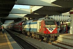 "Israel Railways ""Bobo"" Class No. 733 at Tel-Aviv Center Savidor Station on 1 Nov 2007 (Trains and trams eveywhere) Tags: station israel telaviv spain bobo prima railways alsthom jt42bw israelrailways gmemd gecalsthom centersavidor"