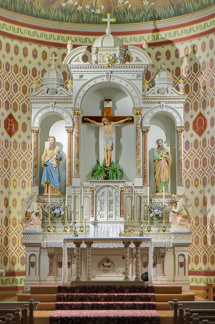 Saint Joseph Roman Catholic Church, in Josephville, Missouri, USA - sanctuary