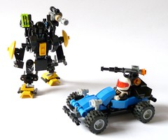 Ranger and Lifter (gambort) Tags: classic lego space police neo nsp nbt