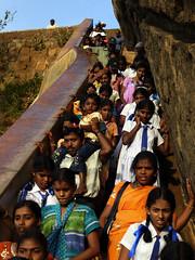 Let me go up please... (St. Damz) Tags: people evening steps srilanka srilankans sigiriyarock
