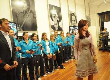 La Presidenta y Las Leonas