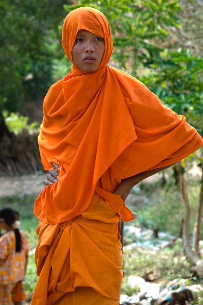 Cambodia. Buddhist monk near Kep.