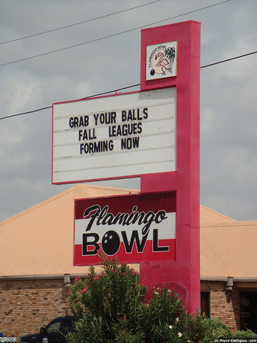 Bowling Alley Marquee Ad