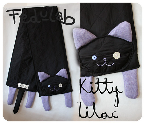 Kitty scarf lilac