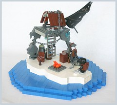 Upon The Boundless Sea (tin) Tags: ocean sea fish ice water river table flow island fire shark fishing chair lego wind box bricks apocalypse bap prototype backpack sail whale ladder iceberg ba titanic stud kar purify apoc atin brickarms brickarmsprotoype