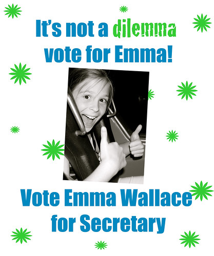 Elementary School Student Council Poster http://ecrosstexas.com/blog/2010/emma-wallace-for-student-council-secretary