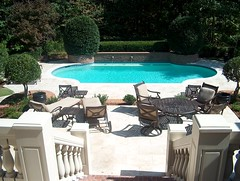 custom-balustrade-railings-swimming-pool (ARNOLD Masonry and Landscape) Tags: lighting atlanta chimney brick home fountain kitchen pool rock stone wall architecture stairs swimming fence georgia landscape fire design landscapes waterfall pond fireplace arch outdoor desi