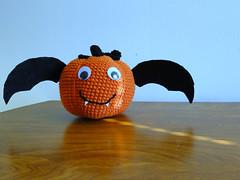 pumpkin bat (caseyplusthree) Tags: cute halloween pumpkin crochet bat crochetalong