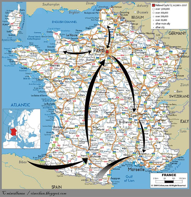 Eat, See, Love → 2010 法國、西班牙、葡萄牙 自助旅行行前規劃 map 2-02