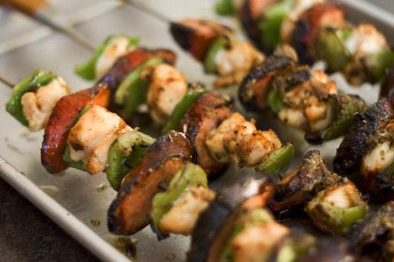 jamaican jerk grilled kebabs