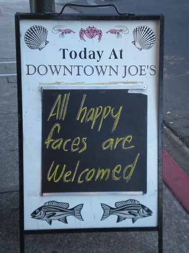 Sign in Downtown Napa