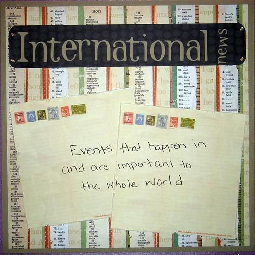 International News Poster
