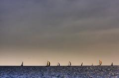 Kings Cup Regatta (Ash Lourey) Tags: ocean sea sky water thailand boats asia yacht sails racing phuket hdr
