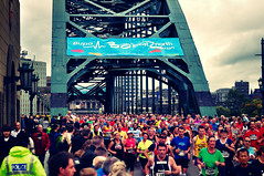 Runners on the Tyne Bridge