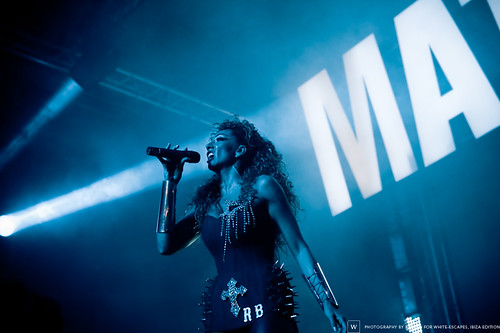 Rebeka Brown, Disco Dramah show at Amnesia Ibiza: 18/09/10