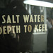 Salt water depth to keel