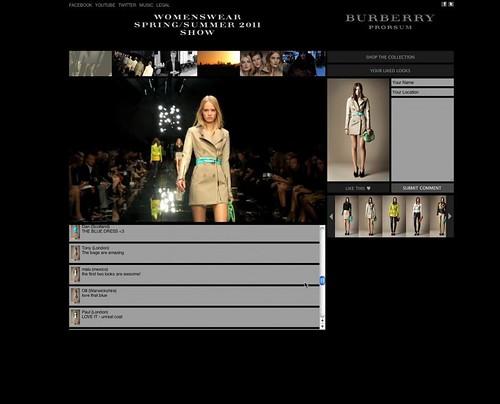 Burberry Livestream SS11