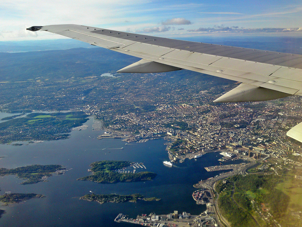 Flying in to Oslo yesterday afternoon!
