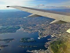 Flying in to Oslo yesterday afternoon! (larigan.) Tags: oslo ferry aerial norwegian railwaystation fjord oslofjorden operahuset oslooperahouse larigan phamilton gatwickoslo oslosentralstasjonen gettyimagesnorwayq1