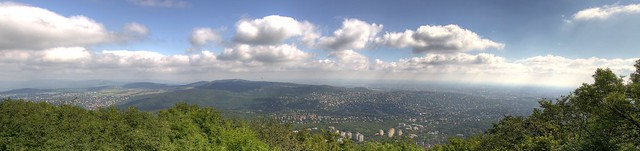 Panorama from the János Hill, Budapest, Hungary