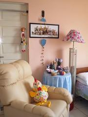 """Meu cantinho: Abajour de fuxico inspirado na revista """"Rita Paiva"""" Made (rosaestilosa) Tags: home casa pano made fuxico patchwork decoração cadeira poltrona abajour retalho itapaiva"""