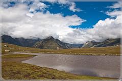 Rohtang Pass ($!D) Tags: blue lake reflection green water colors clouds nikon hills rohtangpass d90