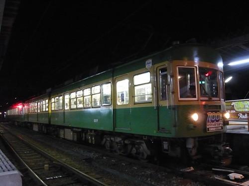 江ノ電305F+22F稲村ヶ崎行き最終電車@長谷