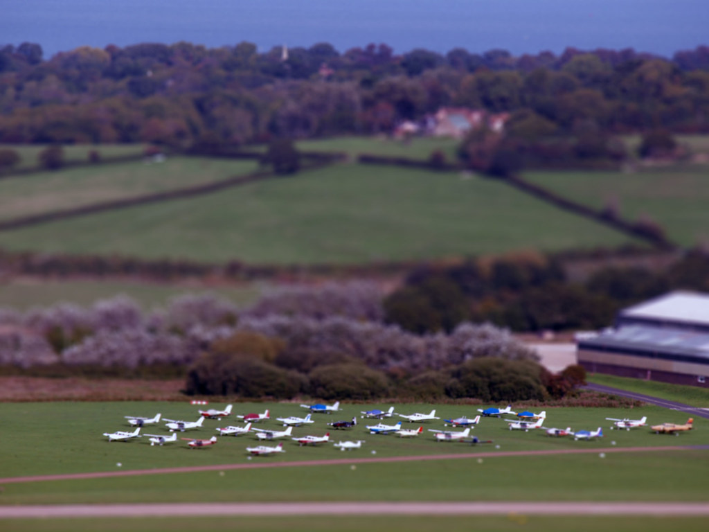 Bembridge Airport tilt-shift